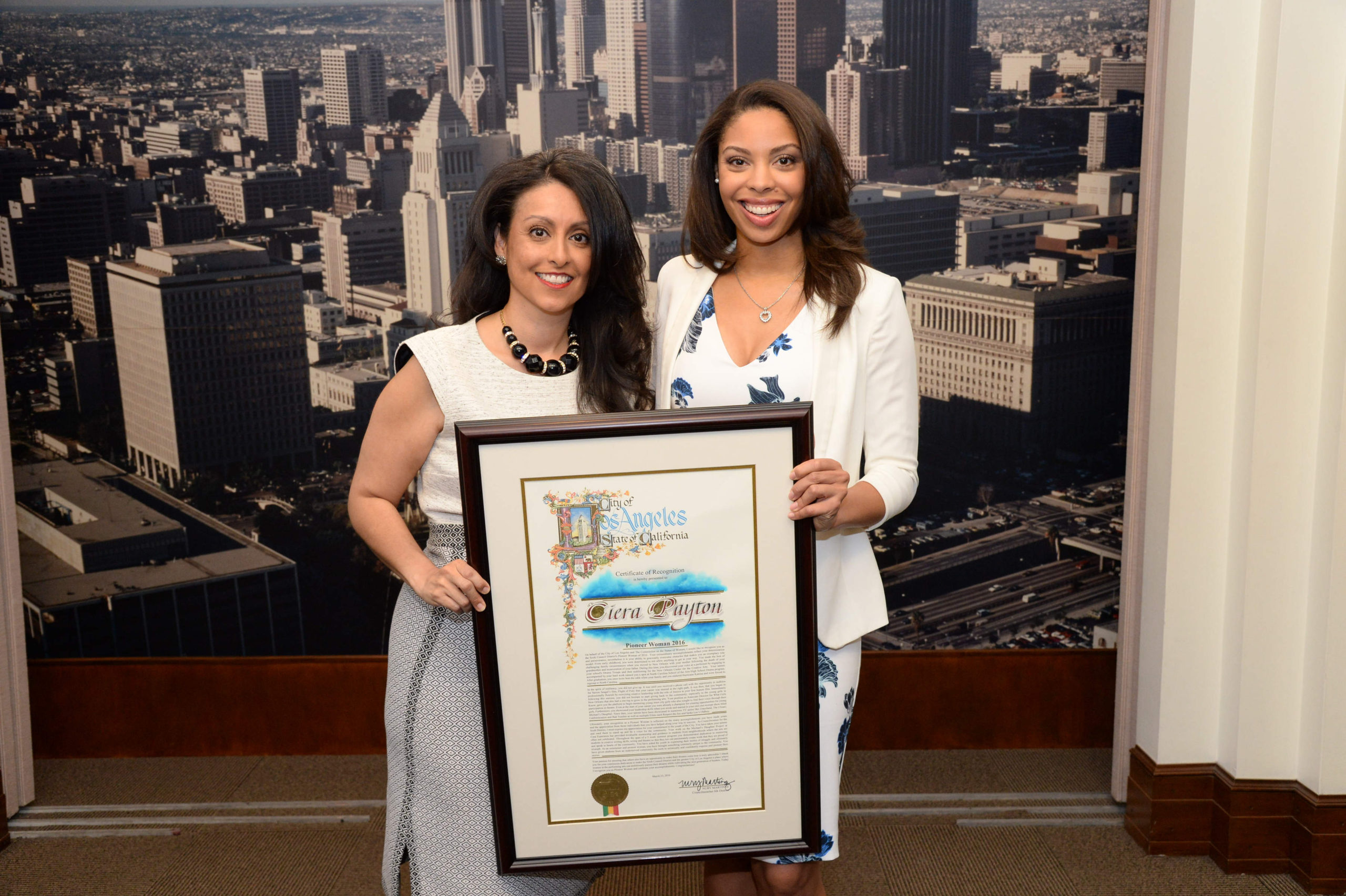 Ciera Payton Receives the 2016 Los Angeles Pioneer Award